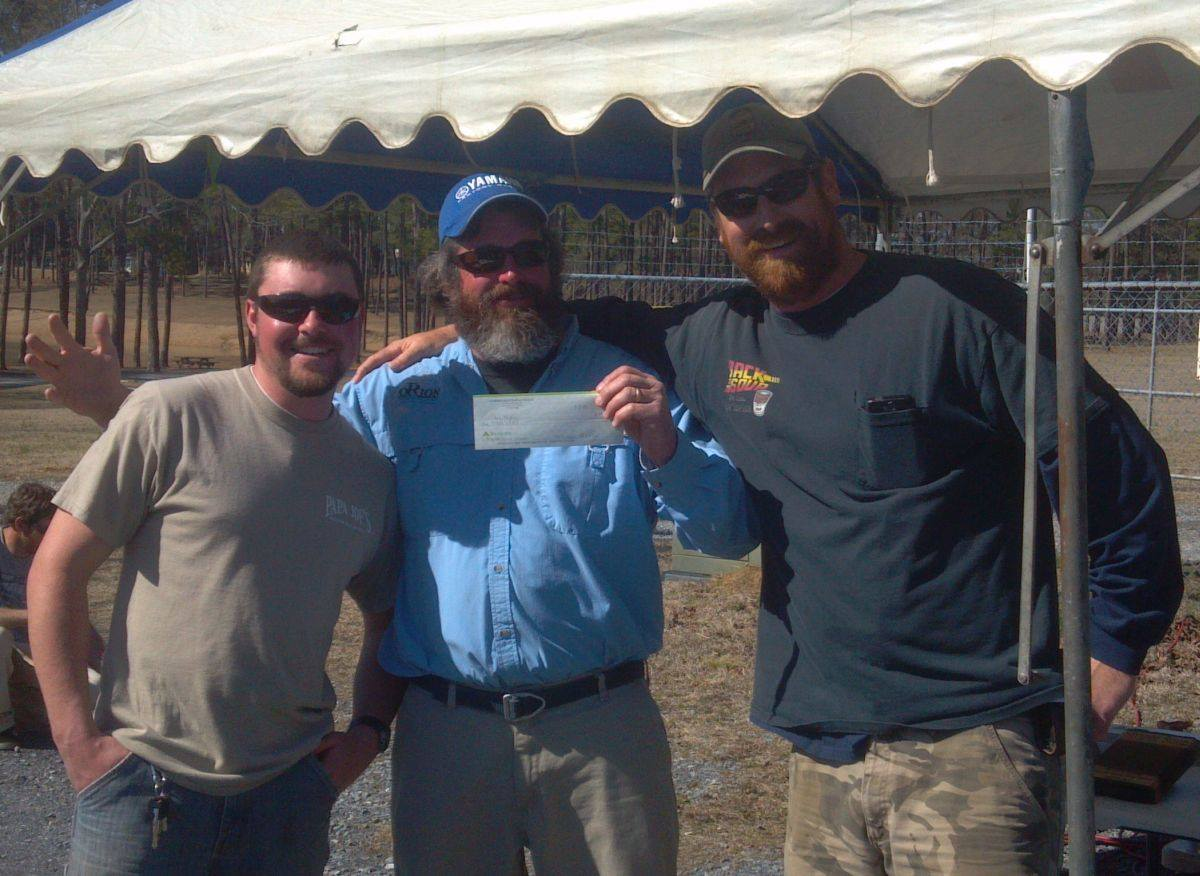 "Team Orion won 1st place in the March 8 2014 ""Striper Soup Bring the Spring Allatoona Striper Tournament"""
